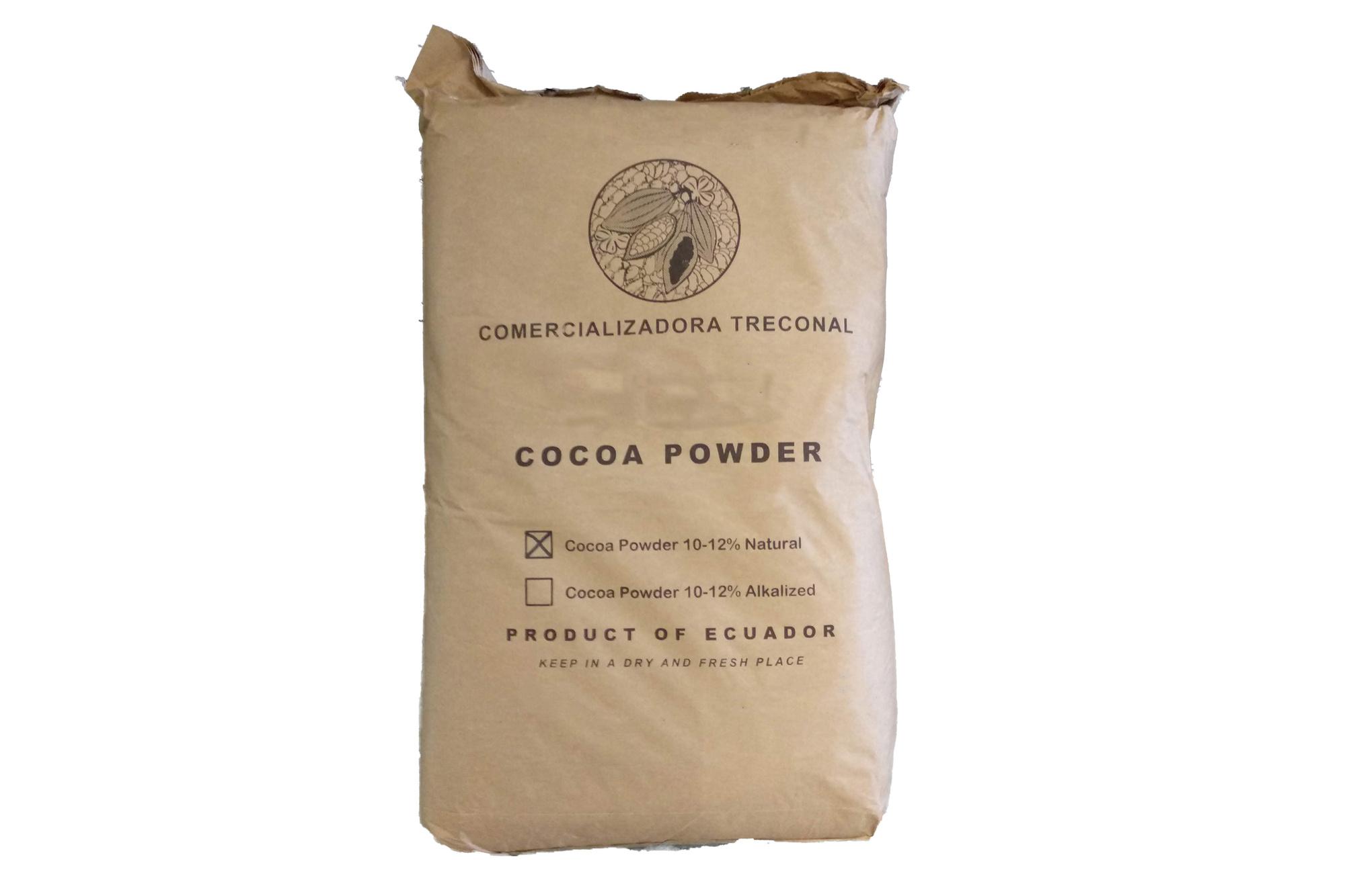 Organic Cacao Cocoa Powder Natural 10/12% 25kg Arriba Ecuador