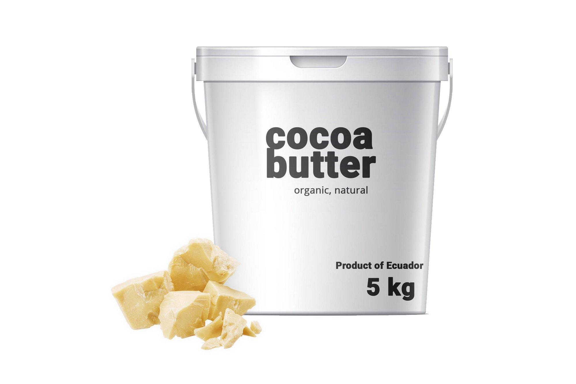 Kakaobutter - 5kg - natürliche unraffinierte Ecuador Lebensmittelqualität